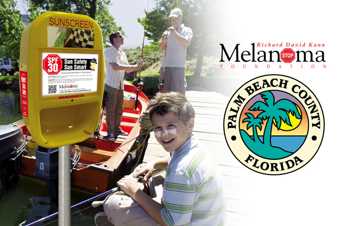 "First Sunscreen Dispenser ""RAY"" to be placed in a public park in Palm Beach County."