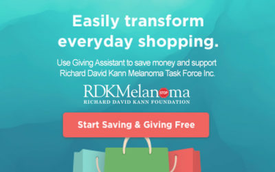 Richard David Kann Melanoma Foundation is so excited to be part of Giving Assistant's Giving Week which provides Double Cash Back and Double Giving now through December 3rd